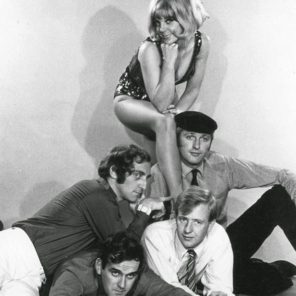 were Tim Brooke-Taylor, John Cleese, Graham Chapman, Marty Feldman and Aimi MacDonald