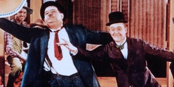 Laurel and Hardy in Way Out West Colour