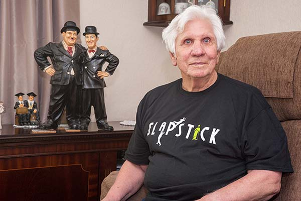 tony white, fan of slapstick festival